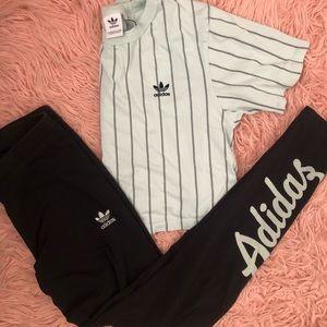 Adidas Set (crop top & leggings)